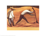 Peasants Prints by Diego Rivera