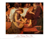 Jesus Washing Peter's Feet Plakater af Ford Madox Brown