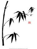 Bamboo II Poster af Jenny Tsang