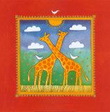 Giraffen Kunstdrucke von Linda Edwards