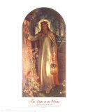 A luz do mundo, em inglês Arte por William Holman Hunt