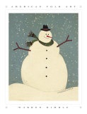 Bonhomme de neige Art par Warren Kimble