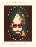Le père Noël avec des jouets Affiches par Warren Kimble