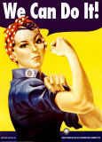Wir können das!|We Can Do It! (Rosie the Riveter) Poster von J. Howard Miller