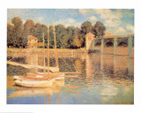 Le pont &#224; Argenteuil Affiches par Claude Monet