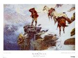 Il ne faut pas vendre la peau de l'ours avant de l'avoir tué Affiches par Charles Marion Russell