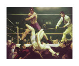Dempsey and Fipro, 1924 Posters by George Wesley Bellows