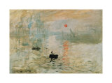 Impression, Sunrise Print van Claude Monet