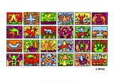 Retrospect von 1989 Poster von Keith Haring