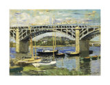 Bridge at Argenteuil Posters by Claude Monet