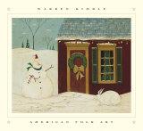 House with Snowman Posters par Warren Kimble