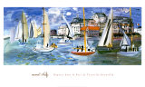 Segelboote im Hafen von Trouville Poster von Raoul Dufy