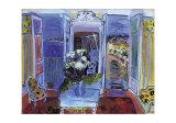 Intérieur à la fenêtre ouverte Affiches par Raoul Dufy