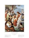 Jesús bendiciendo a los niños Láminas por Bernhard Plockhorst