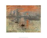 Impressão, nascer do sol, cerca de 1872 Posters por Claude Monet