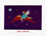 Angel on a Red Horse Poster by Sharon McCullough