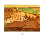 Fall Plowing, 1931 Print by Grant Wood