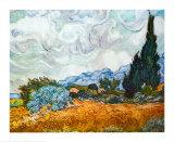 Campo de trigo con cipreses, ca. 1889 Arte por Vincent van Gogh