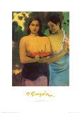 Deux Tahitiennes Poster par Paul Gauguin