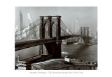 Pont de Brooklyn, New York Affiche par Andreas Feininger