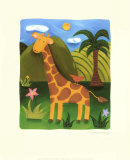 Gerry la girafe Affiches par Sophie Harding