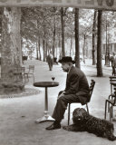 Jacques Prevert Paris, 1955 Print by Robert Doisneau