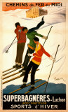 Superbagneres-Luchon, Sports d'Hiver Print by Leonetto Cappiello