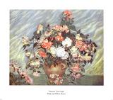 Roses roses et blanches, 1890 Poster par Vincent van Gogh