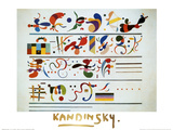 Succession (gold foil text) Láminas por Wassily Kandinsky