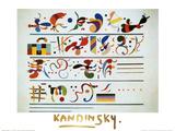Succession (gold foil text) Lámina por Wassily Kandinsky