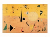 Paysage Catalan (Le Chasseur), c.1923 Poster by Joan Mir&#243;