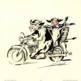 Dicke Jungs auf Tour Poster von Alfred Gockel