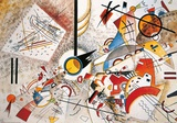 Bruisende aquarel, ca.1923 Print van Wassily Kandinsky