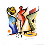 Dancing Kunst van Alfred Gockel
