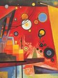 Zwaar rood Schilderij van Wassily Kandinsky