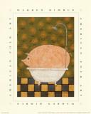 Cochon dans son bain Posters par Warren Kimble