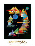 Spitzen In Bogen, c.1927 Plakater af Wassily Kandinsky
