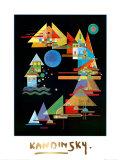 Spitzen In Bogen, c.1927 Schilderijen van Wassily Kandinsky