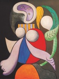Femme &#224; la fleur 1932 Posters par Pablo Picasso