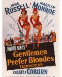 Gentlemen Prefer Blondes, Poster Card