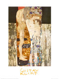 Naisen kolme ikää (The Three Ages of Woman), noin 1905 Juliste tekijänä Gustav Klimt