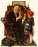 Norman Rockwell - Doctor & Doll Prints