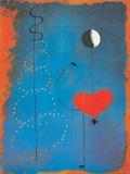 Ballerina II, ca 1925 Planscher av Joan Miró
