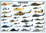 Military Helicopters Print