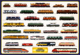 Trains modernes Poster