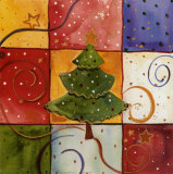 Christmas Tree Posters by Carol Robinson