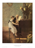 The First Piano Lesson Posters by Jules A. Muenier