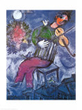 The Blue Violinist Print van Marc Chagall