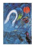 The Champ de Mars Schilderij van Marc Chagall