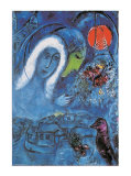 The Champ de Mars Art by Marc Chagall